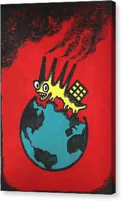 Pollution Canvas Print by Leon Zernitsky