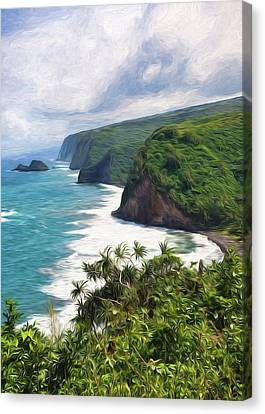 Pololu Valley Beach Canvas Print