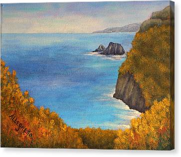 Pololu Valley Lookout Canvas Print by Pamela Allegretto