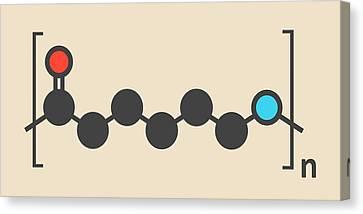 Polycaprolactam Polymer Molecule Canvas Print by Molekuul