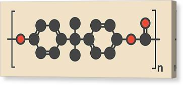 Polycarbonate Plastic Polymer Molecule Canvas Print by Molekuul
