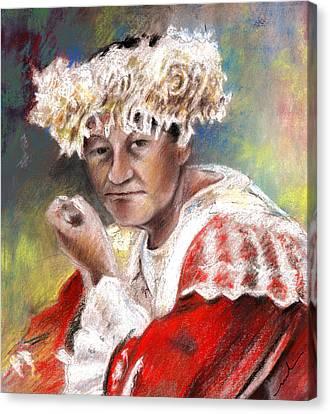 Polynesian Woman Canvas Print by Miki De Goodaboom