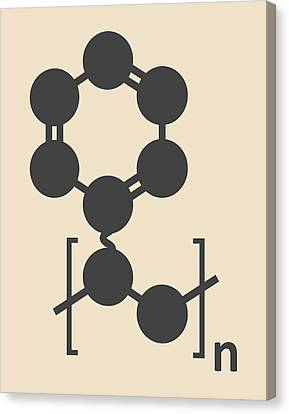 Polystyrene Plastic Polymer Molecule Canvas Print by Molekuul