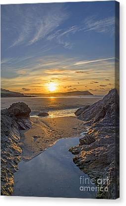 Polzeath Sunset Canvas Print