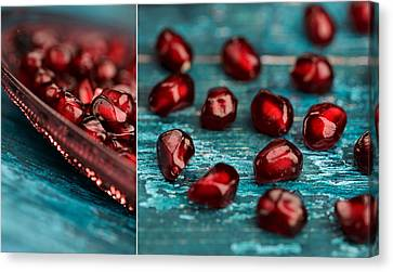 Pomegranate Collage Canvas Print by Nailia Schwarz