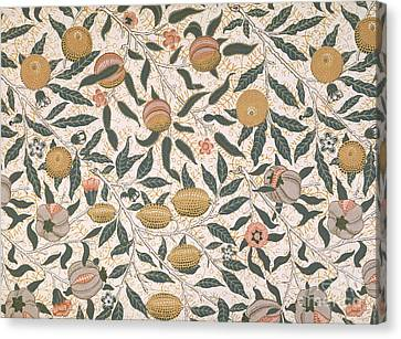 Designer Colour Canvas Print - Pomegranate Design For Wallpaper by William Morris