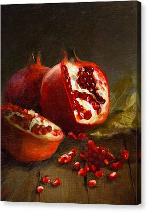 Cooks Illustrated Canvas Print - Pomegranates 2014 by Robert Papp