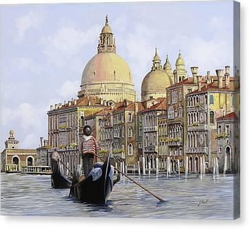 Pomeriggio A Venezia Canvas Print by Guido Borelli