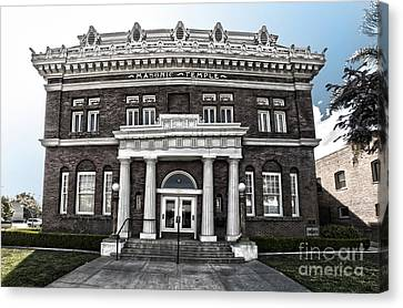 Pomona Masonic Temple Canvas Print by Gregory Dyer
