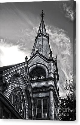 Pomona Seventh Day Adventist Church In Black And White Canvas Print by Gregory Dyer