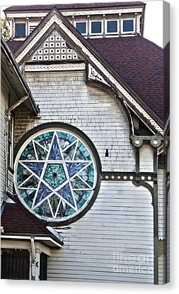 Pomona Seventh Day Adventist Church Stained Glass Canvas Print