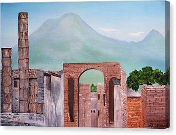 Pompeii And Vesuvius   Canvas Print