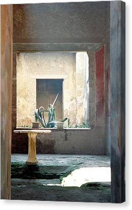 Pompeii Courtyard Canvas Print by Marna Edwards Flavell