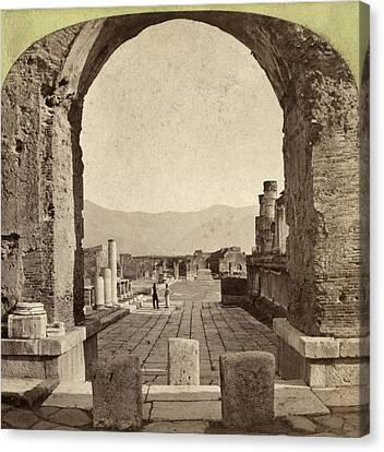 Pompeii Forum, C1880 Canvas Print