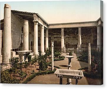 Pompeii House Canvas Print