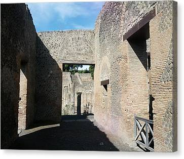 Pompeii Ruins I Canvas Print by Shesh Tantry