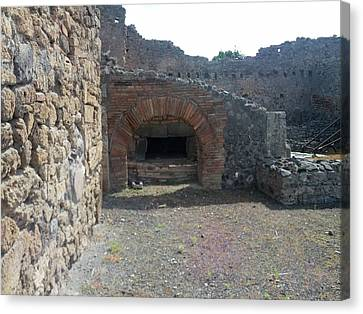 Pompeii Ruins II Canvas Print by Shesh Tantry