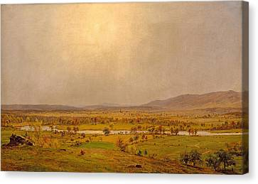 Pompton Plains. New Jersey Canvas Print by Jasper Francis Cropsey