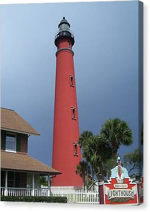 Ponce De Leon Inlet Light 3 Canvas Print by Cathy Lindsey