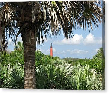 Canvas Print featuring the digital art Ponce Inlet Lighthouse Florida 2 by Brian Johnson