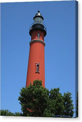 Canvas Print featuring the digital art Ponce Inlet Lighthouse Florida by Brian Johnson