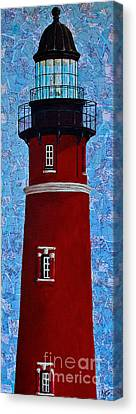 Ponce Inlet Lighthouse Canvas Print by Melissa Sherbon