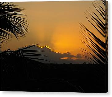 Canvas Print featuring the photograph Ponce Sunrise by Daniel Sheldon