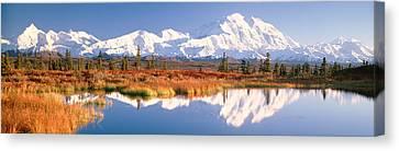 Pond, Alaska Range, Denali National Canvas Print