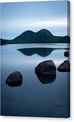 Pond At Dawn, Jordan Pond, Bubble Pond Canvas Print by Panoramic Images