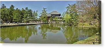 Pond At Todai-ji Temple, Nara, Nara Canvas Print by Panoramic Images