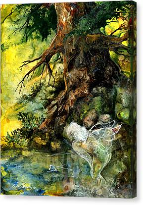 Pond Fairy Canvas Print by Sherry Shipley