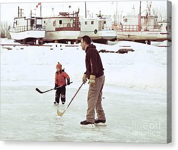 Pond Hockey Canvas Print - Pond Hockey by Lisa Killins
