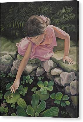 Pond Magic Canvas Print by Holly Kallie
