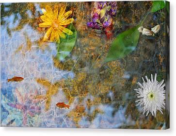 Pond Or Garden? Canvas Print by Zilpa Van der Gragt