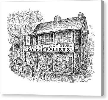 Pond Village Store Generalists Canvas Print by Edward Koren