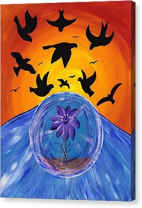 Pondering Creation - God Speed Canvas Print by Barbara St Jean