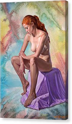 Figures Canvas Print - Pondering by Paul Krapf