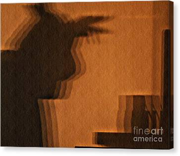 Pondering Shadowplay Canvas Print by Chris Sotiriadis
