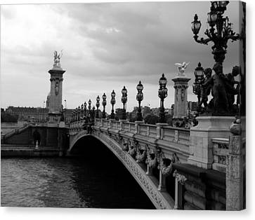 Canvas Print featuring the photograph Pont Alexander by Lisa Parrish