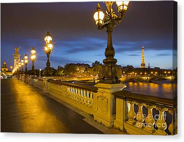Pont Alexandre IIi Twilight Canvas Print by Brian Jannsen