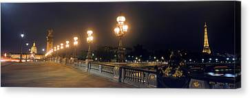 Pont Alexandre IIi With The Eiffel Canvas Print by Panoramic Images