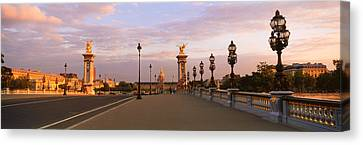 Pont Alexandre IIi With The Hotel Des Canvas Print by Panoramic Images