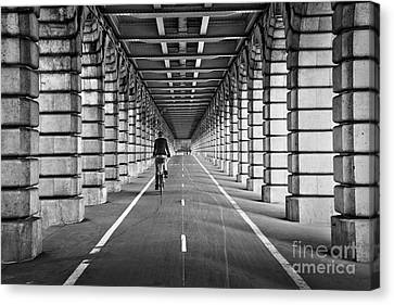 Pont De Bercy Canvas Print by Delphimages Photo Creations