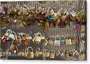 Pont Des Artes Canvas Print by Georgia Fowler