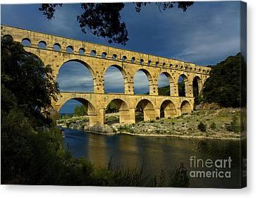 Pont Du Gard. France Canvas Print by Bernard Jaubert