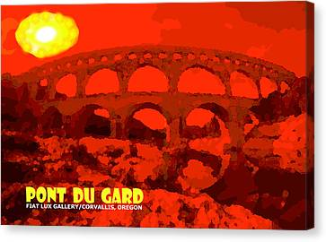 South Of France Canvas Print - Pont Du Gard by Michael Moore