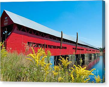 Canvas Print featuring the photograph Pont Marchand by Bianca Nadeau