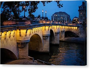 Pont Neuf Bridge - Paris France I Canvas Print by Georgia Mizuleva