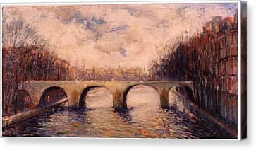 Pont Sur La Seine Canvas Print