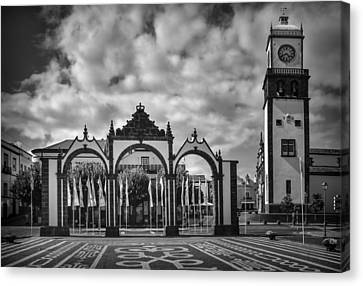 Ponta Delgada Gates Canvas Print